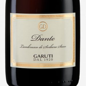 DANTE-Secco-Lambrusco-Di-Sorbara-DOP-cantina-Garuti-etichetta