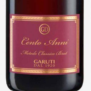 Lambrusco-di-Sorbara-Cent-anni-Metodo-Classico-36-mesi-cantina-garuti-vini-etichetta