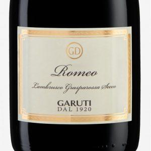 Romeo-rosso-frizzante-secco-lambrusco-gasparossa-dop-cantina-Garuti-etichetta