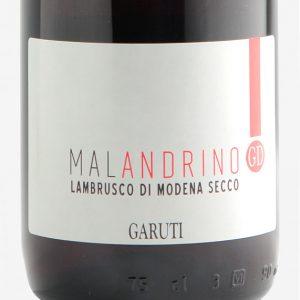 malandrino-rosso-frizzante-secco-lambrusco-di-modena-dop-linea-classica-cantina-Garuti-etichetta